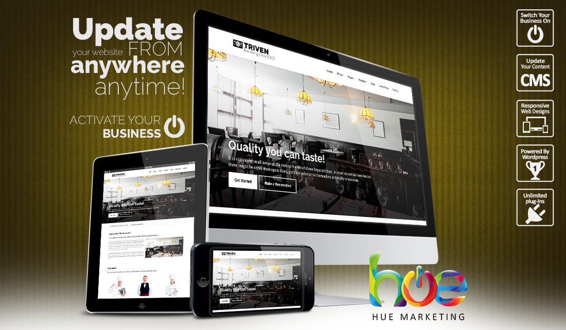 Restaurant website design ideas hue marketing