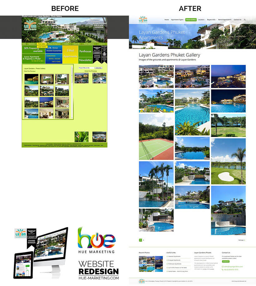 Phuket Website Redesign - Layan Gardens - Gallery