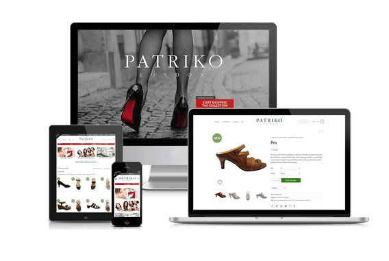 Patriko London Responsive Ecommerce Website Design