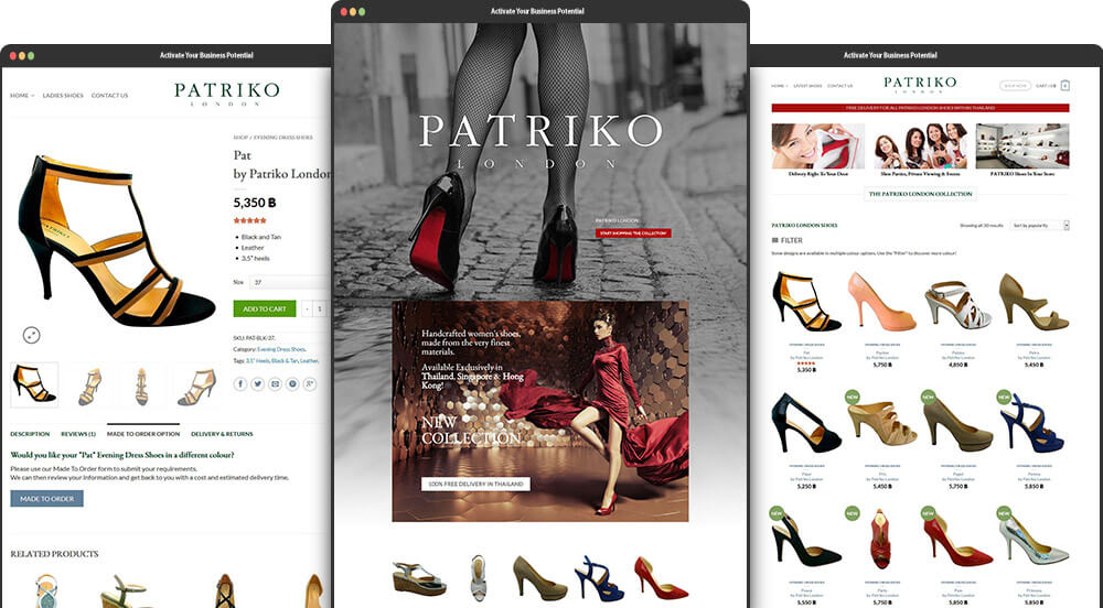 Ecommerce Website Design for Patriko London