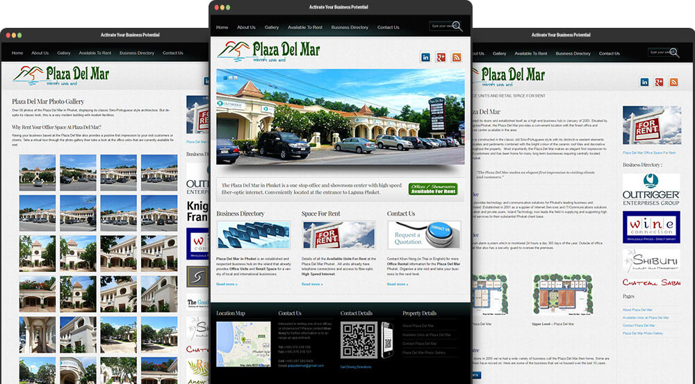 Phuket Web Design for Plaza Del Mar