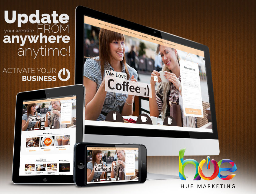 Cofffee Shop Web Design Idea