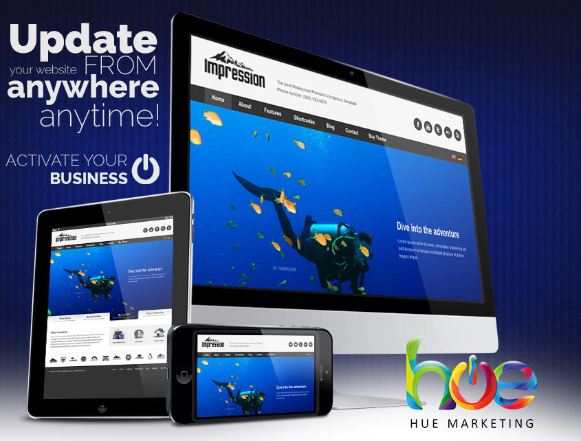 Scuba Diving Phuket Web Design Ideas