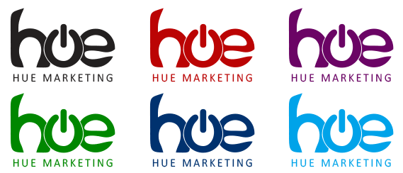 Vinyl Stickers Design - Hue Marketing Logo