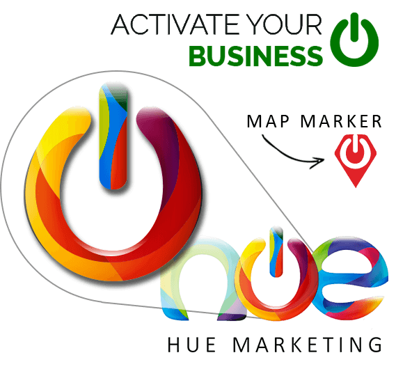 Hue Marketing Logo Aplications