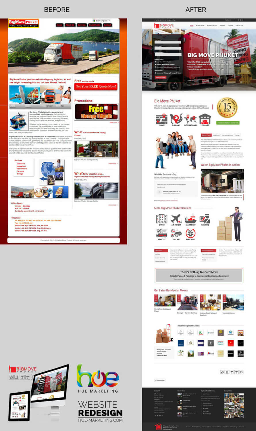 Website Redesign For BigMove Phuket