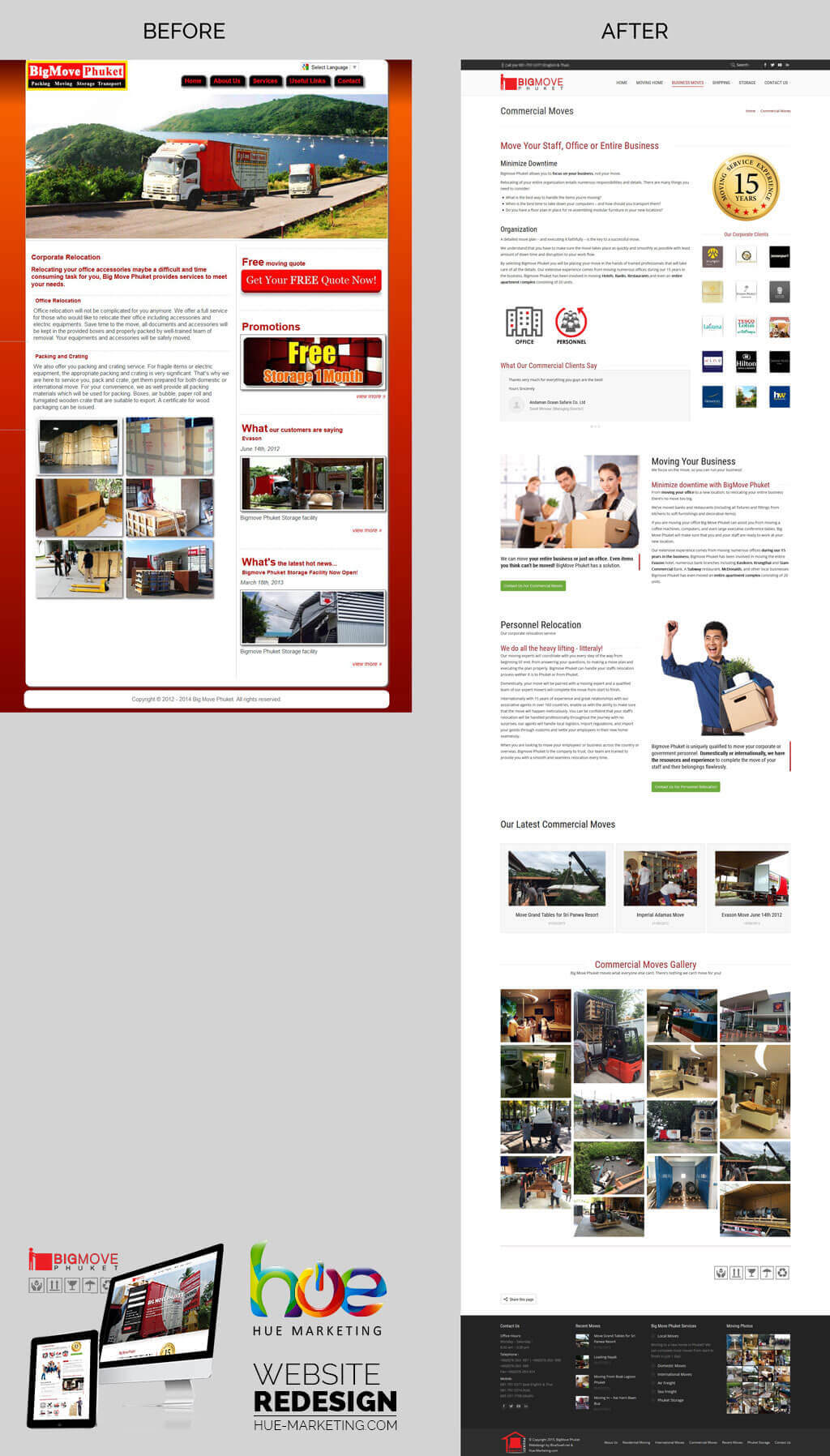 Website Redesign - BigMove Phuket - Corporate Moves