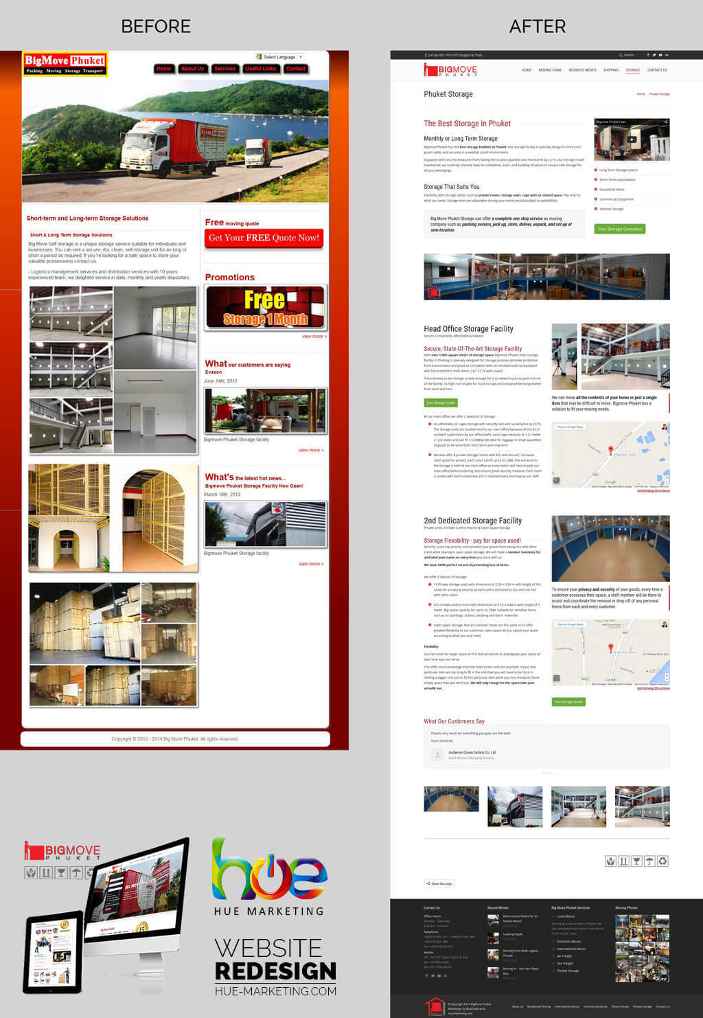Website Redesign - BigMove Phuket - Storage Facilities