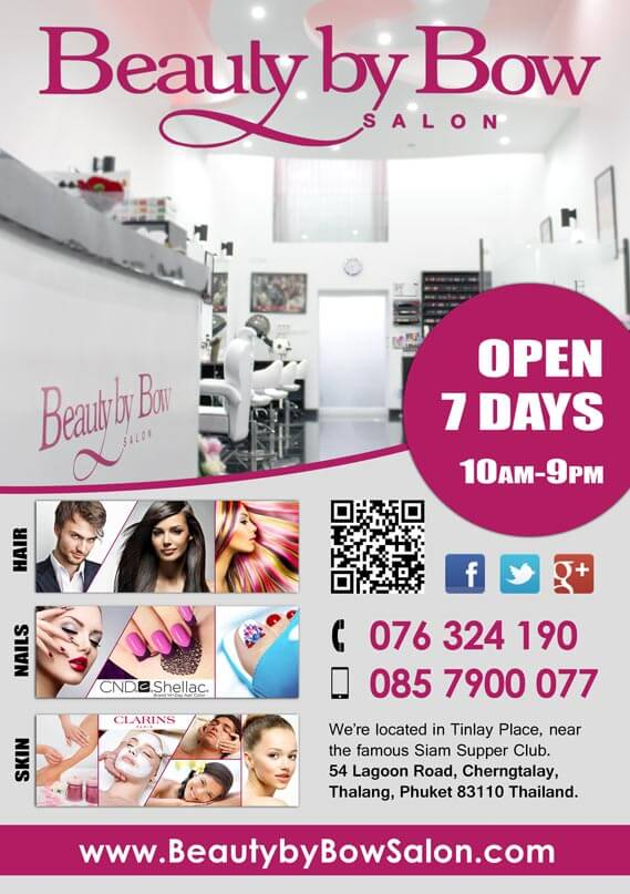 A5 Flyer Beauty By Bow Salon Phuket by Hue-Marketing