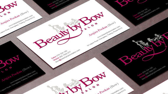 Beauty by bow cards flyers hue marketing beauty by bow business cards colourmoves