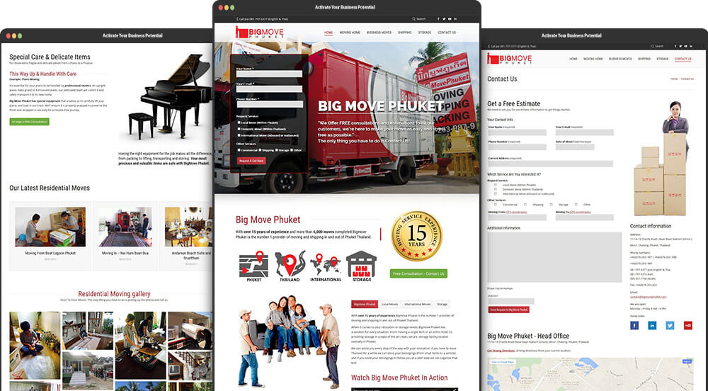 Phuket Web Design for Big Move Phuket