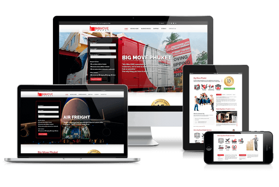 BigMove Phuket Responsive Website Re-Design by Hue Marketing