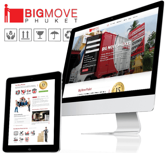 Big Move Phuket Responsive Website Design for BigMove Phuket