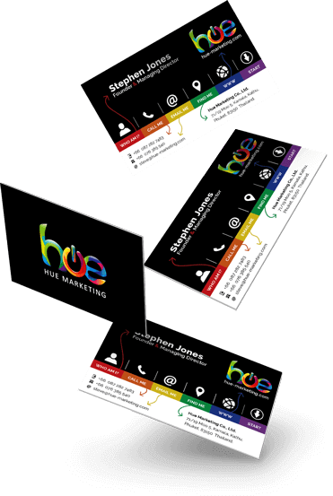 Business Cards For Hue Marketing Phuket