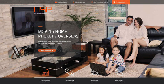 Phuket Web Design - Moving Home Slider