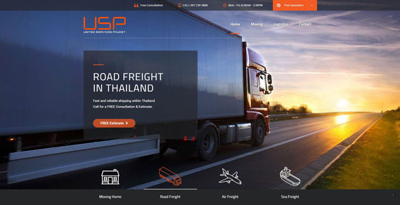 Phuket Web Design - Land Transport Slider