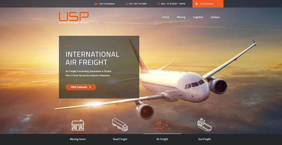 Phuket Web Design - Air Freight Slider