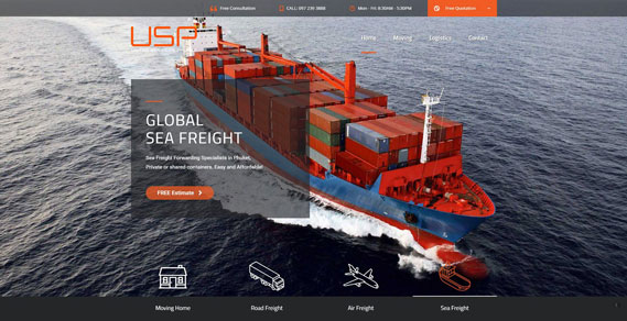 Phuket Web Design - Sea Freight Slider