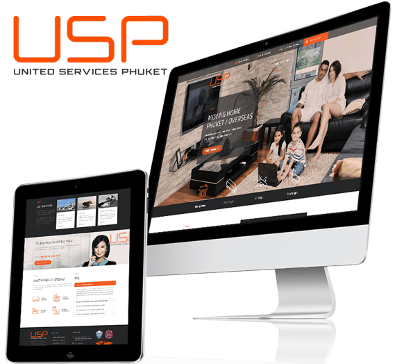 Responsive Website Design for United Services Phuket