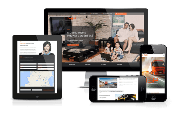 Responsive Website Redesign for USP Phuket