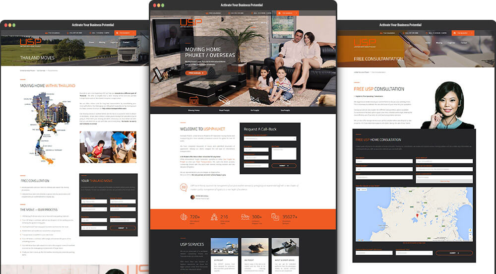 Phuket Web Design for United Services Phuket