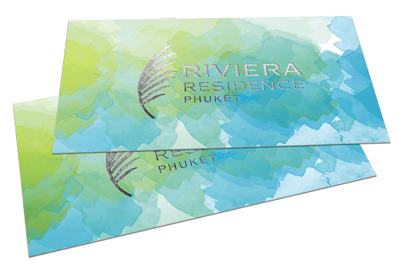 Riviera Residence Phuket Business Cards With Silver Foil