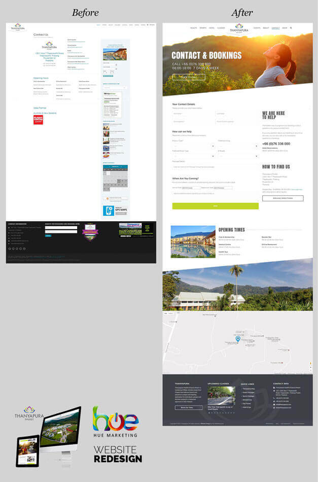 Contact Us Page Thanyapura Phuket Website Redesign