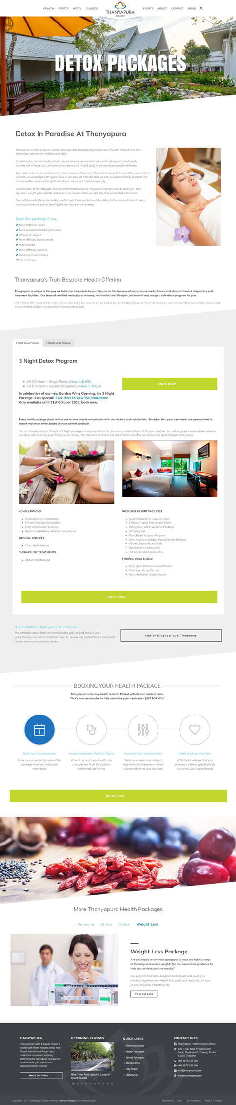NEW Package Page - Thanyapura Phuket Website Redesign