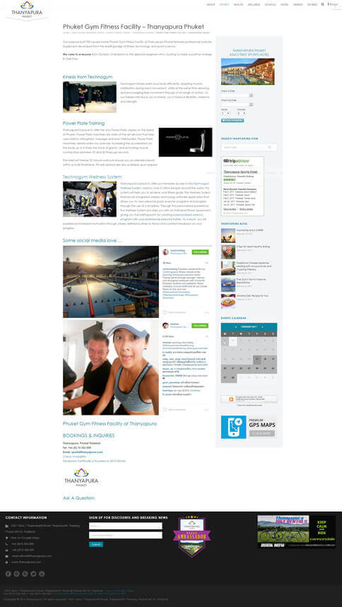 OLD Fitness Page - Thanyapura Phuket Website Redesign