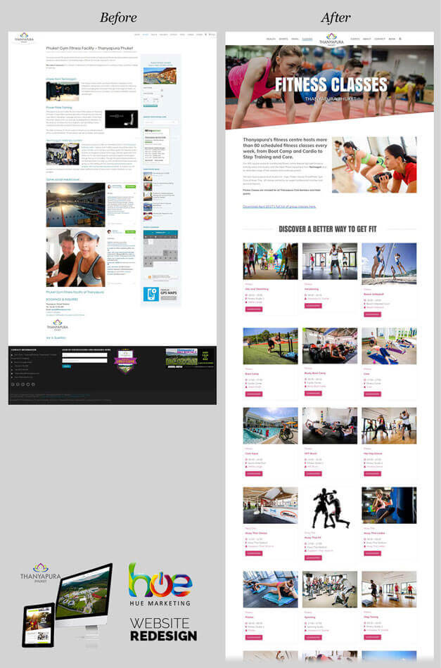 Fitness Page Thanyapura Phuket Website Redesign