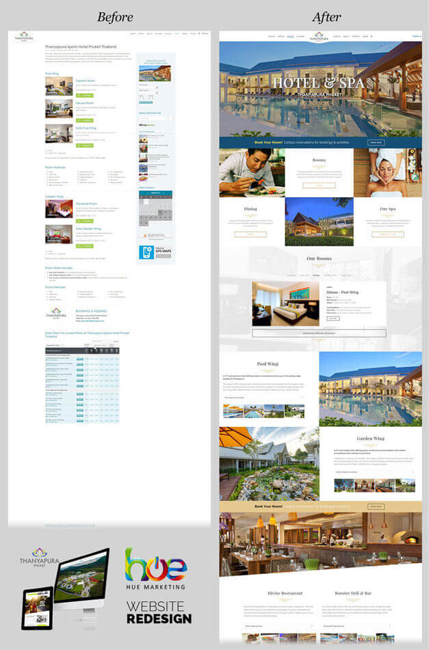 Hotel and Spa Thanyapura Phuket Website Redesign