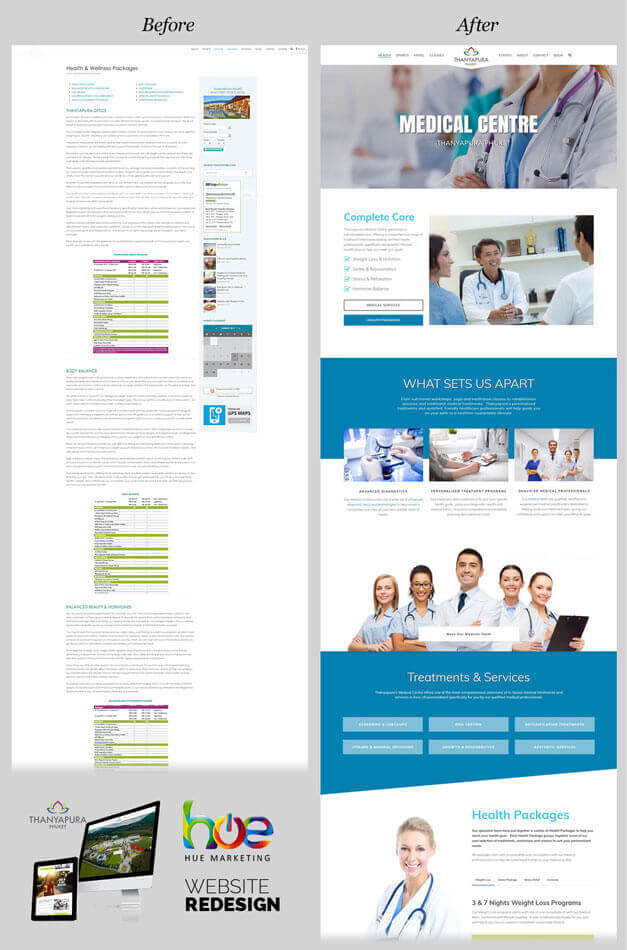 Medical Centre Thanyapura Phuket Website Redesign