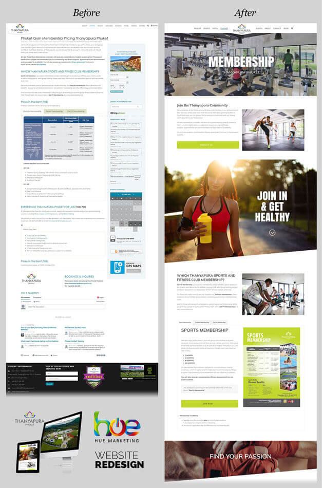 Membership Page Thanyapura Phuket Website Redesign