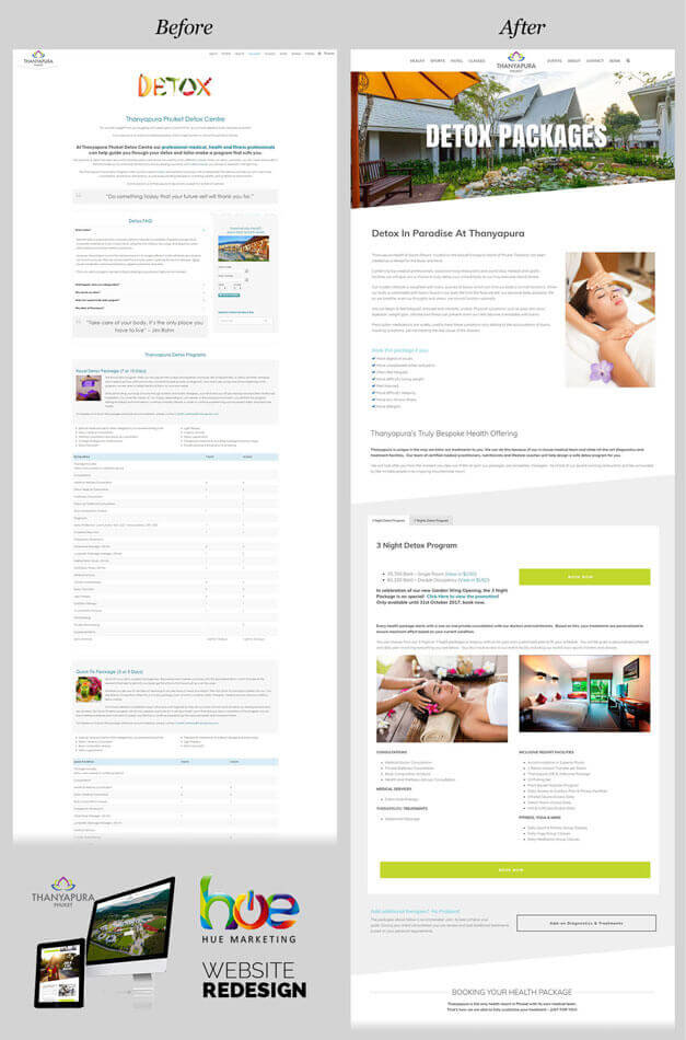 Package Pages Thanyapura Phuket Website Redesign