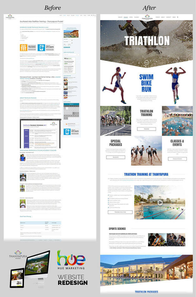 Sports Category Pages Thanyapura Phuket Website Redesign