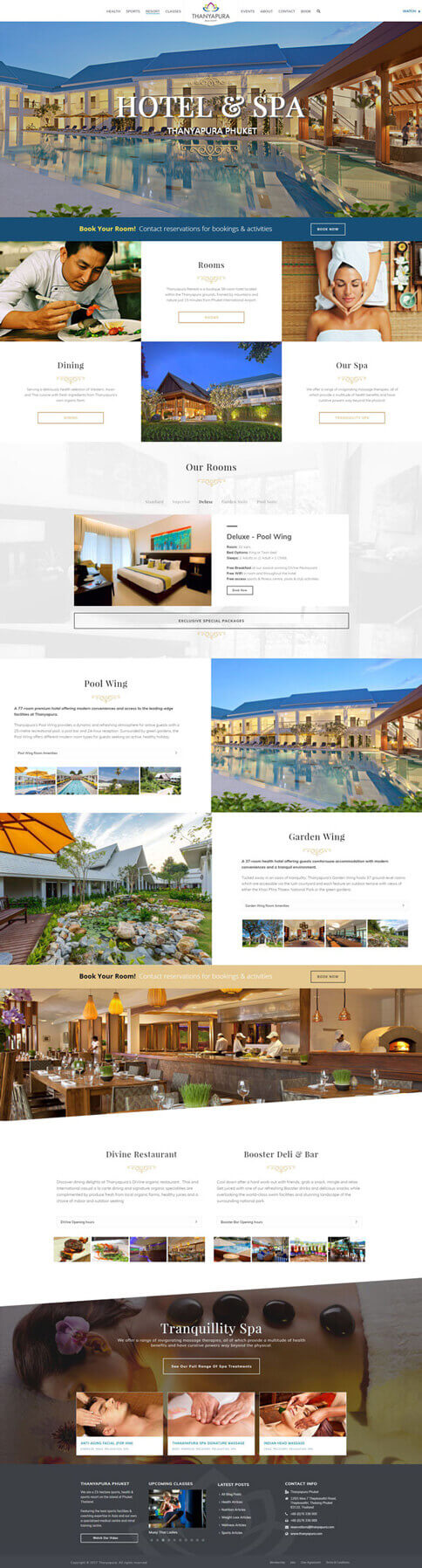 NEW Hotel Page - Thanyapura Phuket Website Redesign