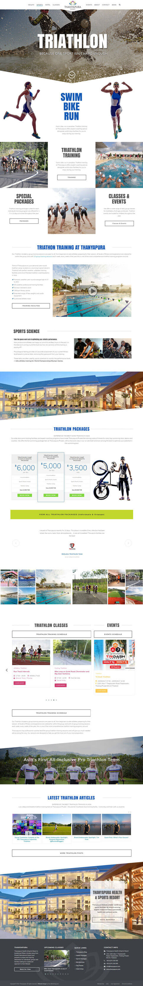 NEW Sports Category Page - Thanyapura Phuket Website Redesign