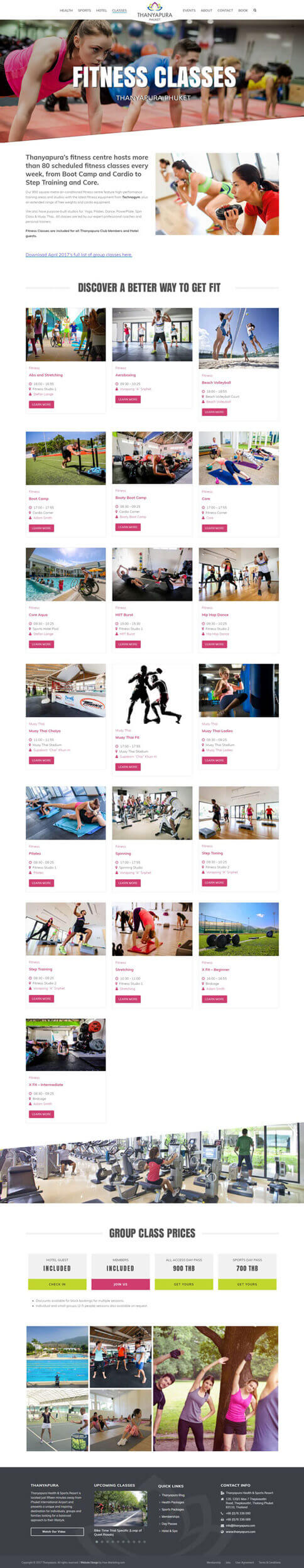 NEW Fitness Page - Thanyapura Phuket Website Redesign