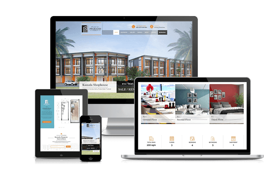 Phuket Property Website Design PP Grand Kamala