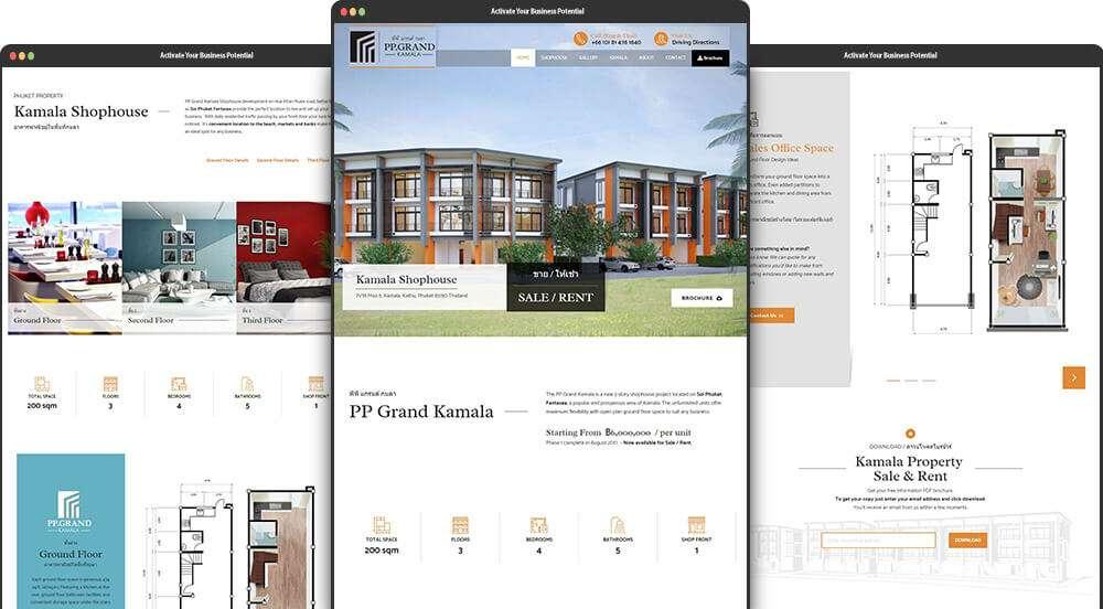 Phuket Website design for PP Grand Kamala