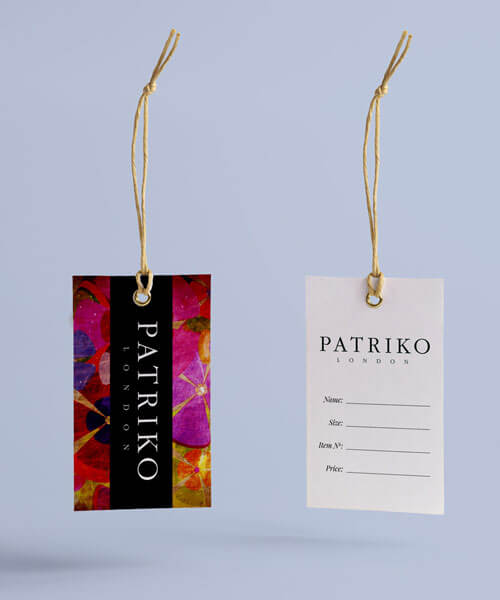 Branded Swing Tags Patriko London