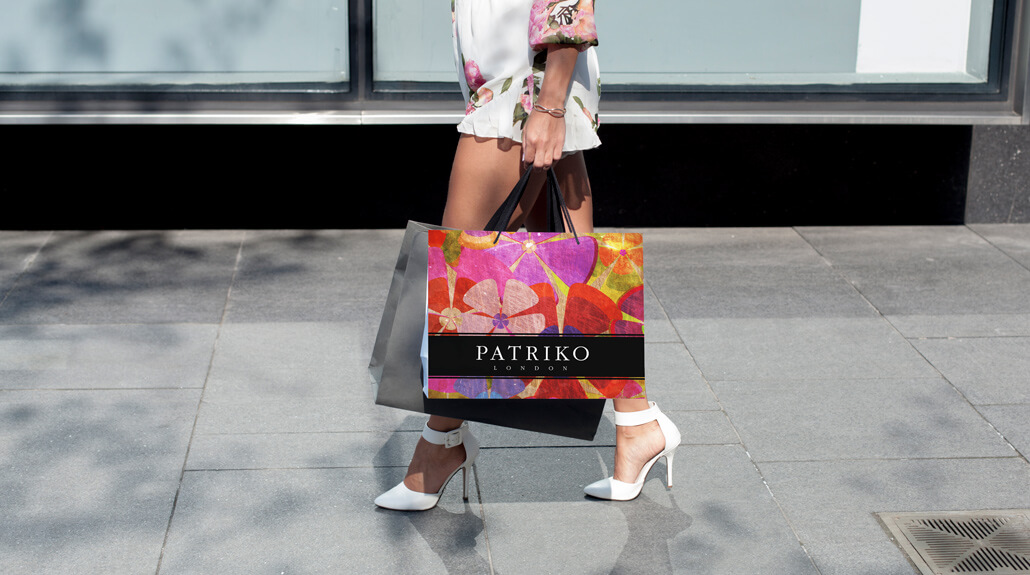 Retail Shopping Bag Design for Patriko London