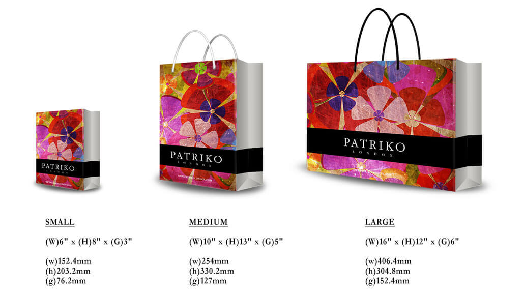 Brand Design - Shopping bag sizes