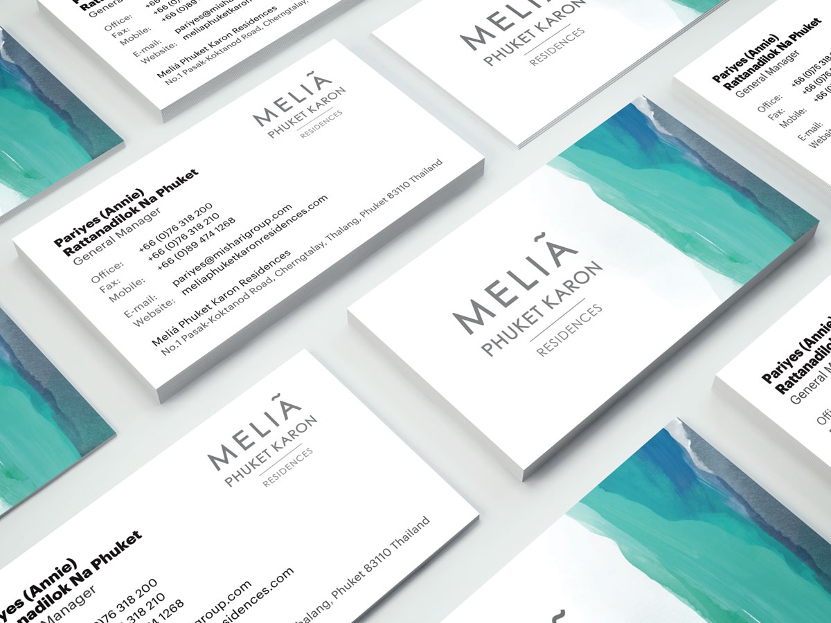Melia Business Cards Design - General Manager