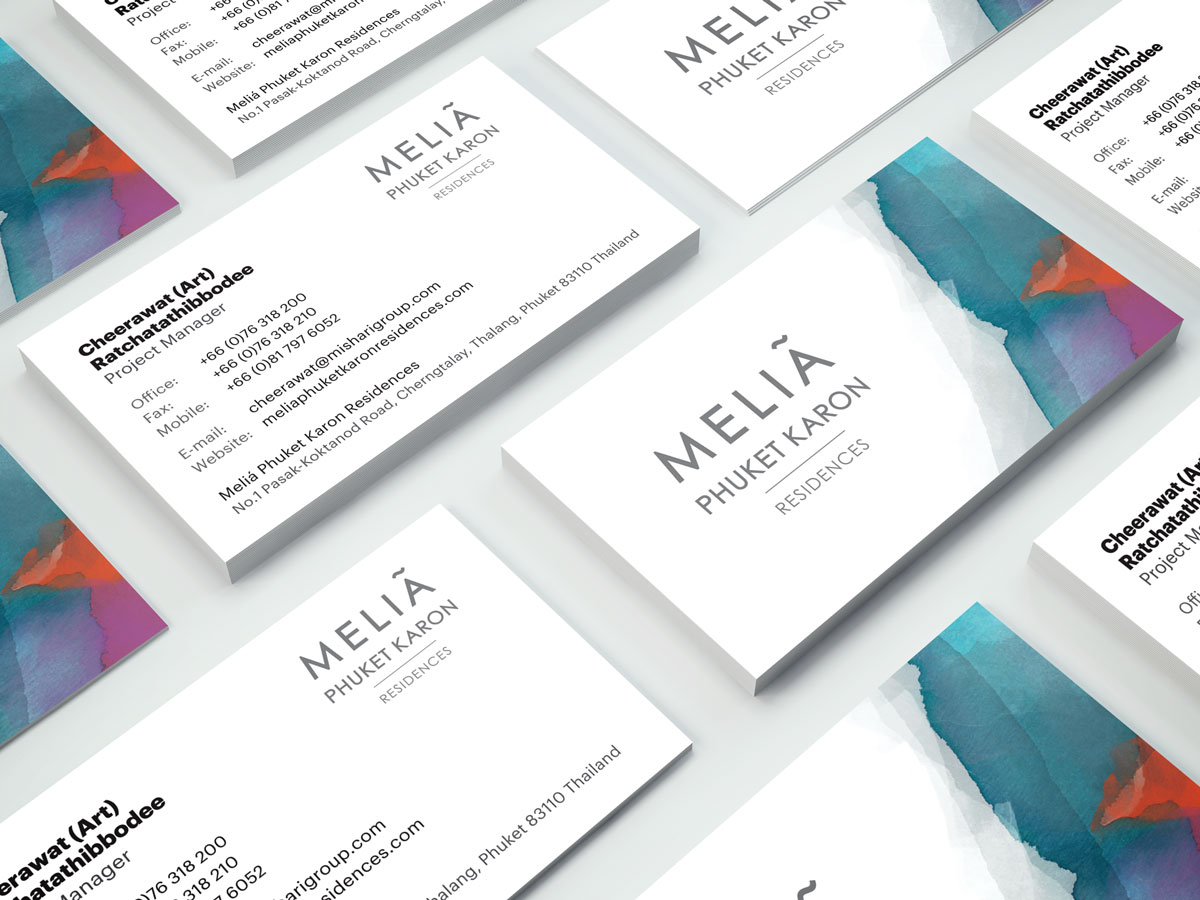 Melia Business Cards Design - Project Manager