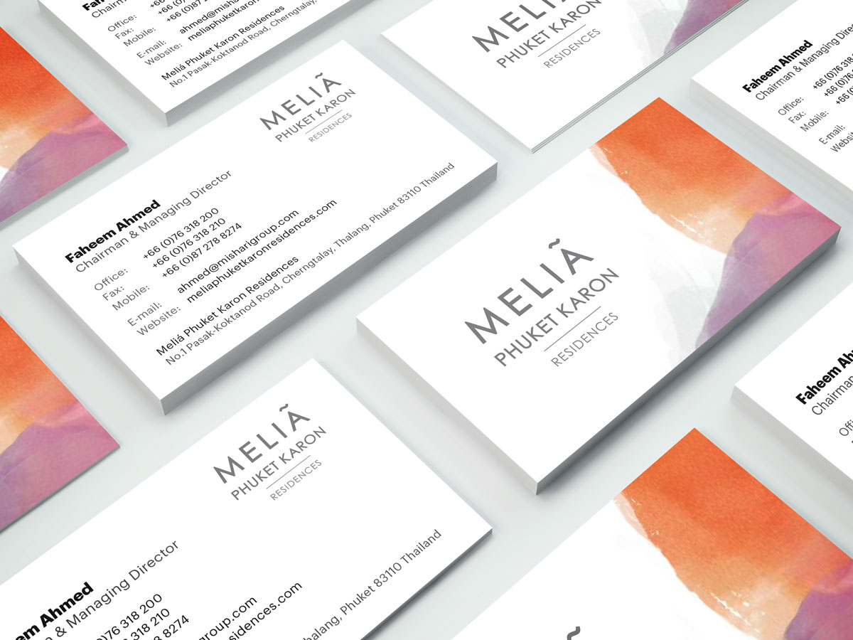 Melia Business Cards Design - Managing Director
