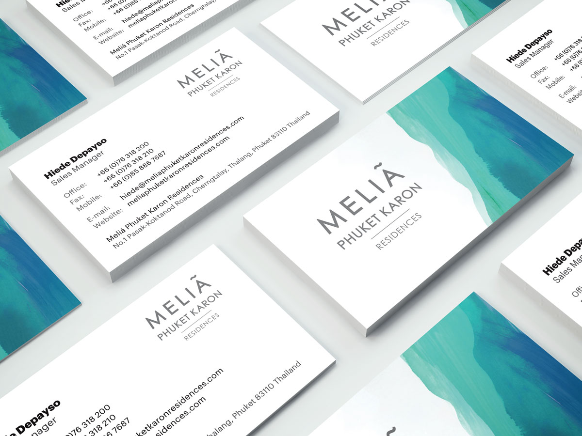 Melia Business Cards Design - Sales Manager