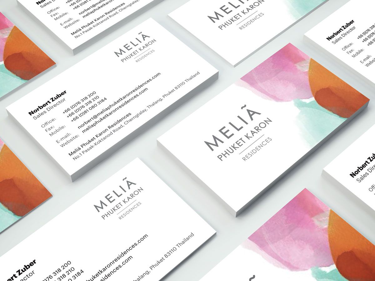 Melia Business Cards Design - Sales Director